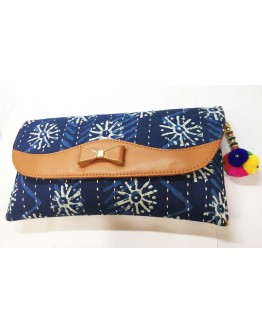 Women beautiful cotton kantha wallet Sling bag