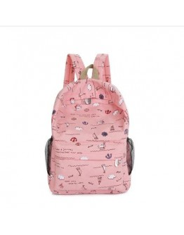 Women's Backpack Cartoon Printing Leisure Student's Bag