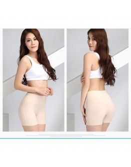 Slim HigFlat Angle Abdomen Anti-Light High Waist Seamless Safety Pants for Women