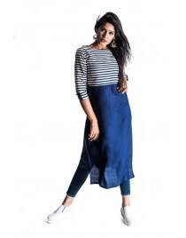 Women Kurti Premium quality rayon perfect indo western look Kurta