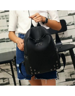 Woman Backpack black colour School Bags