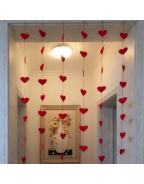 Home Decor Love Heart Non-Woven Door Window Curtain