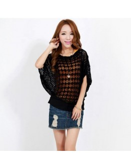 Fashion Hollow Out Knit Top
