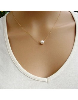 Simple Imitate Pearl Necklace