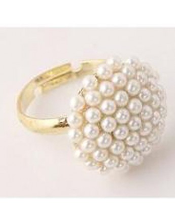 Charm Pearl Adjustable Ring