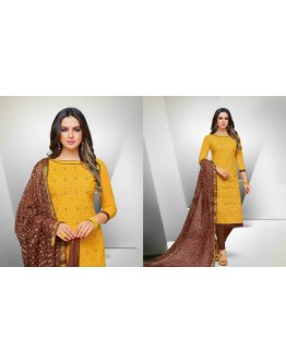 BANDHNI DESIGNER COLORFUL COTTON WITH MIRROR WORKED DRESS MATERIALS