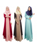 Muslim Women Maxi Dress Hijab Islamic Dresses Vintage Style