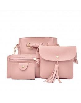 4pcs Mini PU Shoulder Bag Set