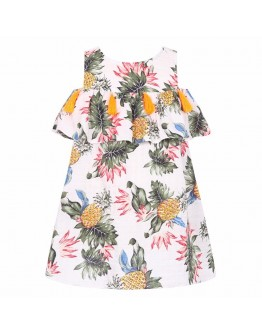 Kids  Dress Pineapple Print Baby Girls Frok