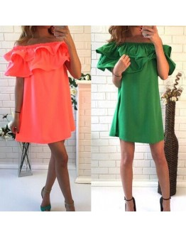 Women Dress Sleeve Off Shoulder sexy casual party dress