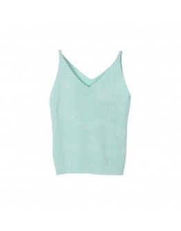 Women Summer Top Sexy Fashion Camisole Bruiser Glittering Knitting V-Neck top