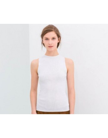 Women Top Sleeveless Hollow Out Back T-Shirt Slim White Sexy Summer Tank Top