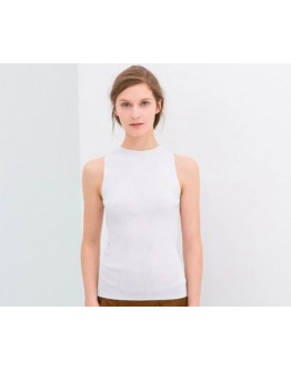 Women Top Sleeveless Hollow Out Back T-Shirt Slim White Sexy Summer Tank Top