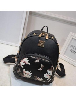 Women Backpack Daffodils Pattern Female Shoulder Travel Bag