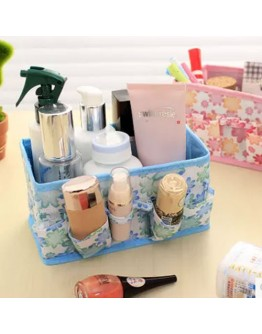 Women Beauty Multifunction Folding Makeup Cosmetics Organizer Storage Box