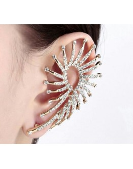 Women ear clip 1pc rhinestone beautiful classy earring