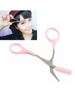 Portable eyebrow scissor trimmer tool