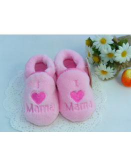 Kids  Toddler Girls Cotton Coral Fleece Skid Proof Soft Sole Baby Shoes 0-1Yr