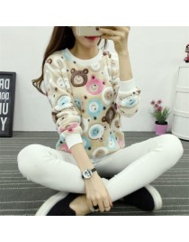 Women tops cute very soft hoody sweatshirt high quality Flannel pullover tops
