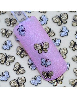 Women beautiful butterfly shining decals nail art