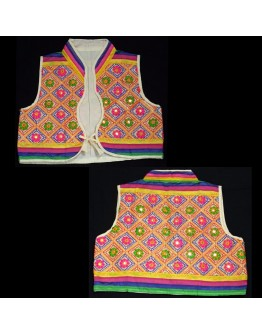 Women Jacket Embroidered Koti-Gamthi Style Shrug in 3 sizes