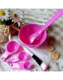 6in1 Makeup Beauty DIY Facial Face Mask Bowl Brush Spoon Stick Set