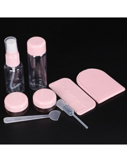 8Pcs Set Plastic Transparent Empty Cosmetic Container Makeup Face cream Bottlles