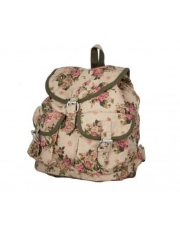 Women Backpack Bag Canvas Buckle and Magnet Button