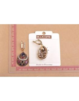 Women Jewelry Set Trendy Chic Bohemia Waterdrop Necklace Earring 2Pcs Set