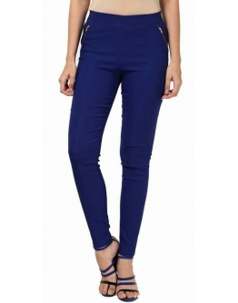 Women Blue Jeggings Cotton Solid Jegging