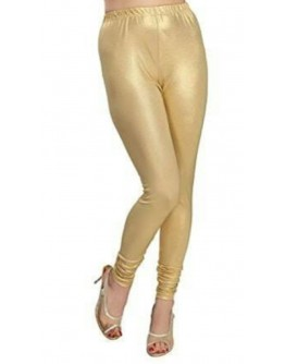 Women Gold Leggings South Cotton Shimmer Jegging