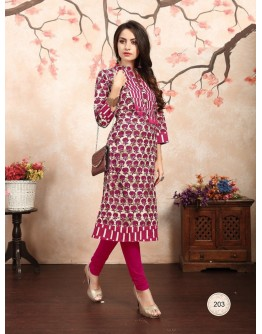 Women Kurti Premium Cotton Different Designs Catalog Kurta