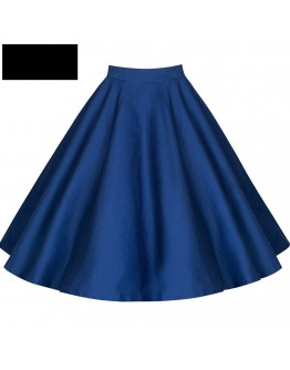 Women Skirt  High Waist Plain blue Ladies Skirts