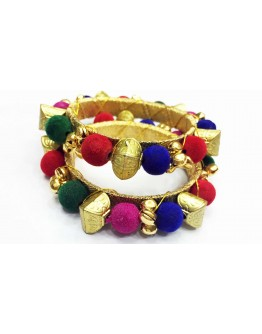 Women Multi Colored Kada Bangle for Navratri