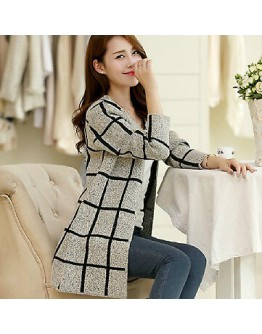 Women cardigan sweater Cotton Elastic Twist Knitted Long Sleeve outerwear