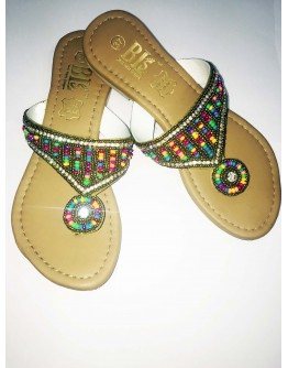 Embellished decorative beads of footwear